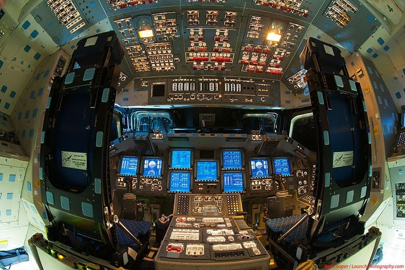 Cockpit of the Space Shuttle Endeavor